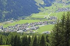 Aussicht Bergstation auf Sedrun